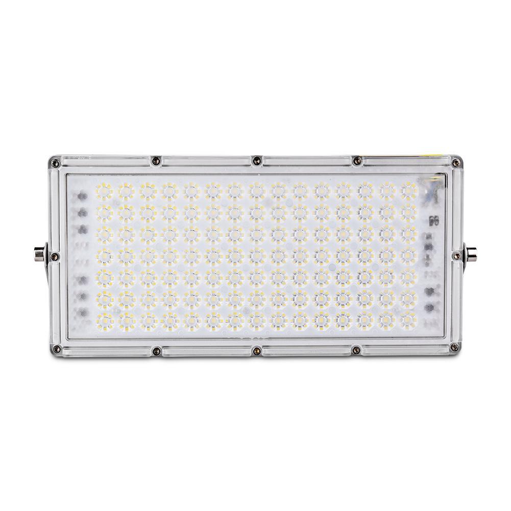 100W 7th Generation Module Ultra-fino LED luz de inundação, Holofote ao ar livre IP65, Flowlight branco fresco para quintal, jardim, parque infantil