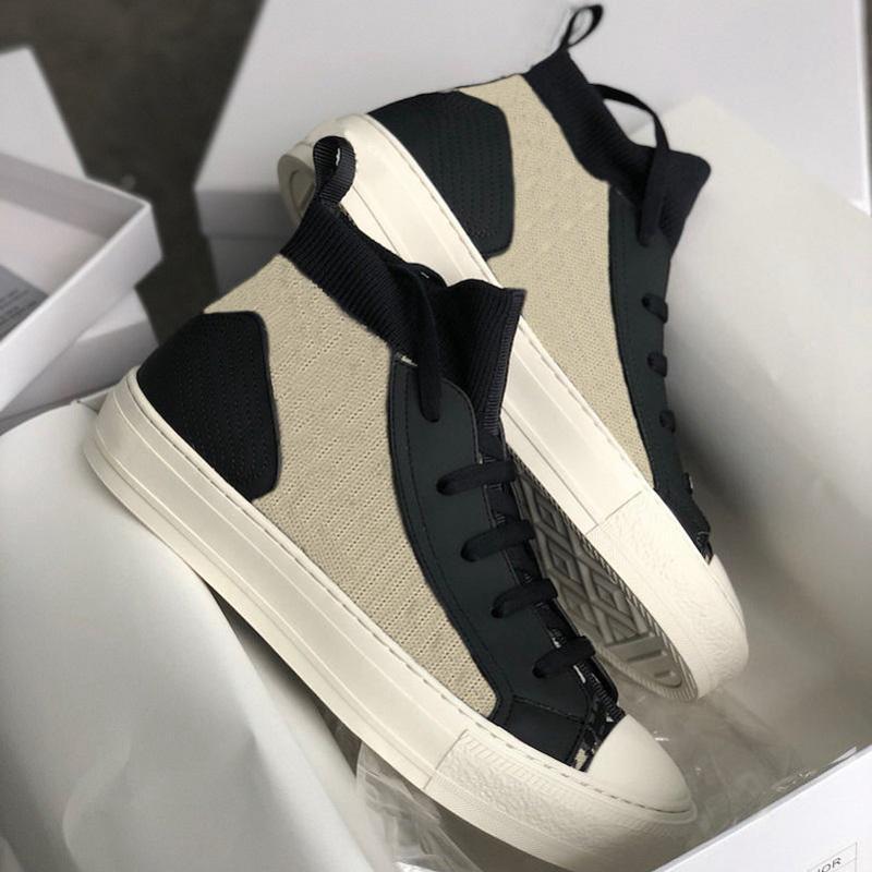 dior shoes Großhandel neue ankunft frauen wandern sneaker blue schräg technische mesh turnschuhe klassische plattform schuhe grils schnüren trainer