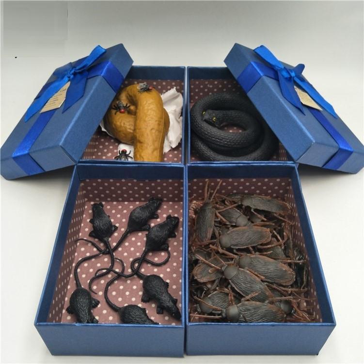 Sahte hediye erkek ve kızlar çukur yaramaz şakalar intikam artefakt kancacı trickster oyuncak kutusu yaratıcılık