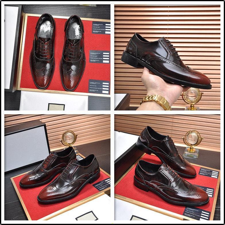 Lujo Nueva Moda Oxford Man Vestido Zapato de cordón Lace Up Punto Toe Coffee Black Office Shoes de boda de gamuza de lujo Zapatos de cuero Hombres