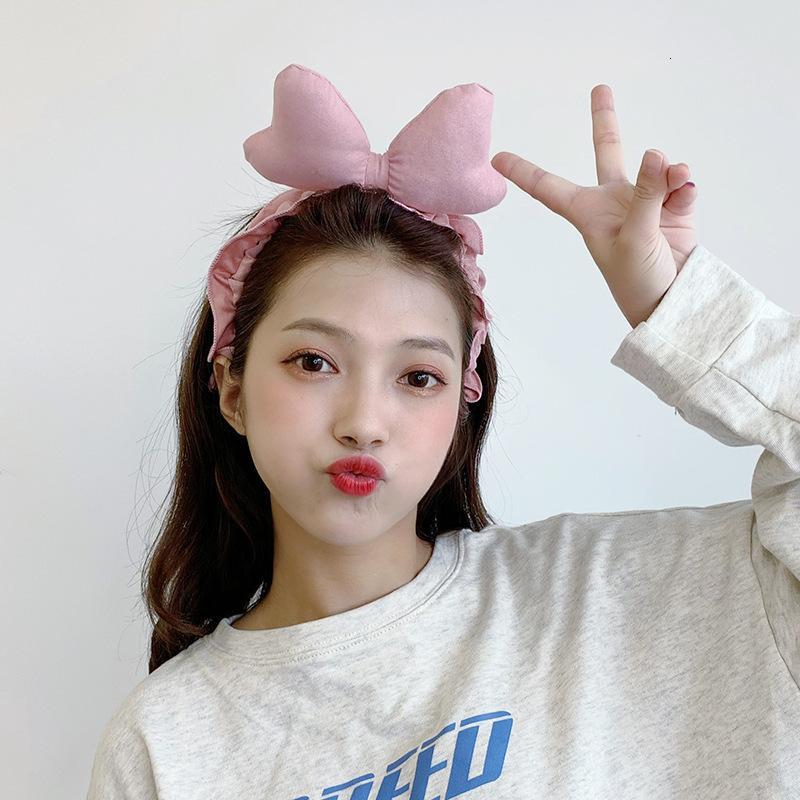 Сладкая и прекрасная бабочка концом женщины мыть лицо простой мультфильм макияж для волос кольца корея одевать милый джек