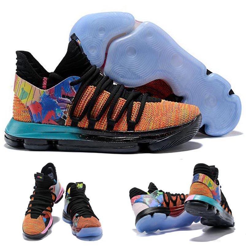 Chegada Nova Que os Blue Pink KD X 10s Ice Verde Sports Basketball Shoes 10s Kevin Durant 10 PE Atlético sapatilhas