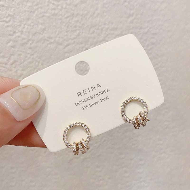 Gm9ju Micro инкрустированного циркона кольцо с кольцом и серьги серьги новой модой в 2020 году dongdamen Южной Кореи