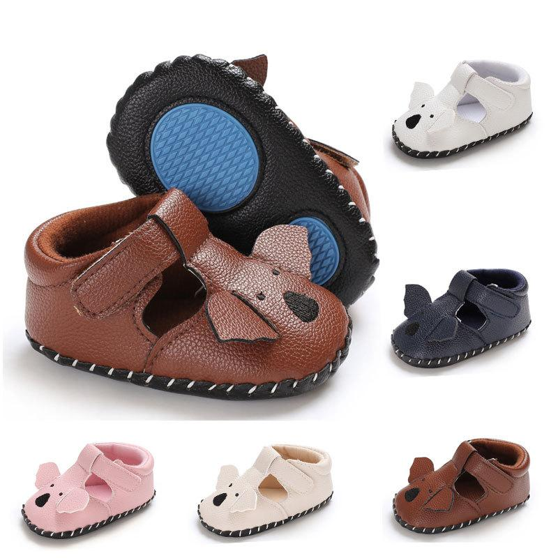 Baby Summer Cartoon Shoes Infant Elephant Sandal Toddler PU Casual Shoes Fashion Boys Girls Soft Rubber Sole Babies Shoes C6626
