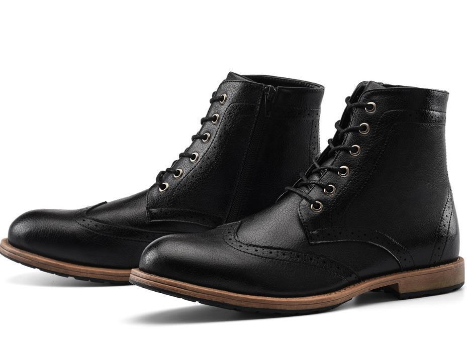 GM Golaiman 2020 Novos Homens Vestido Botas Casuais Lace Up Botas do tornozelo Botas de Trabalho Tênis 2020 Design Sneakers de Alta Qualidade