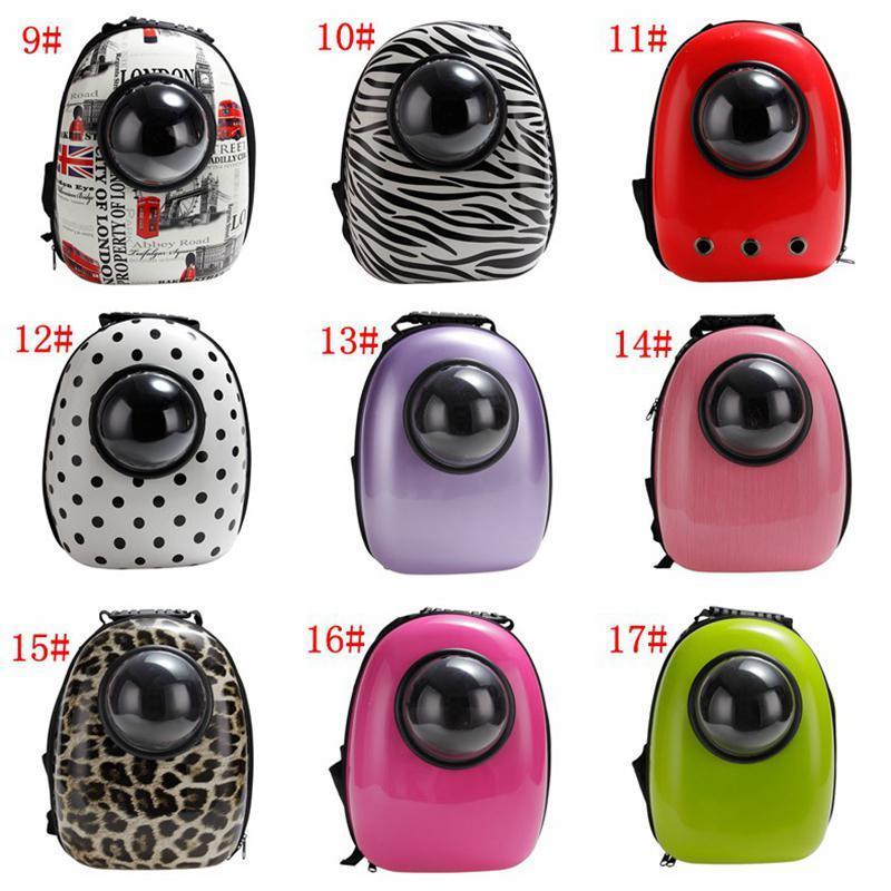 Yeni Uzay Kapsül Şeklinde Pet Taşıyıcı Nefes Sırt Çantası PC Yavru Köpek Açık Seyahat Taşınabilir Sıcak Satış Kedi Çantaları 17 Renkler BWD2692