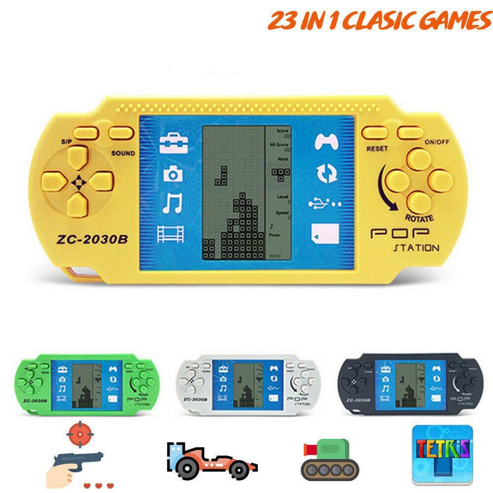 """2.7 """"محمول لاعب لعبة وحدة التحكم ريترو معاكم اخر اصدارات الطفولة تتريس لعبة لاعبين وحدة التحكم الألعاب الألكترونية ألعاب للأطفال"""