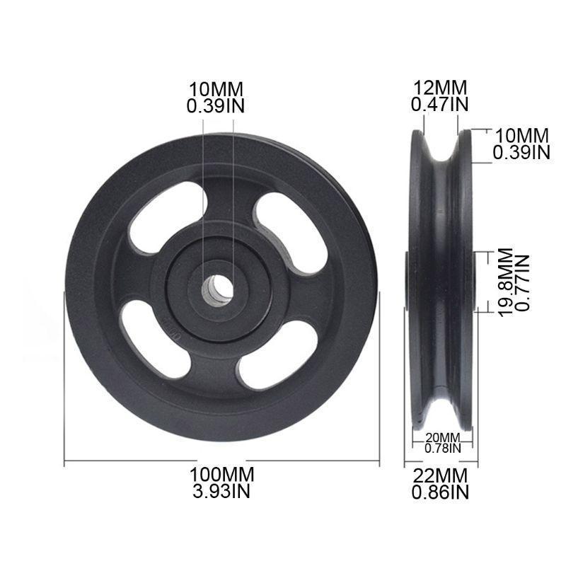 وإذ تضع العالمي بكرة عجلة لكابل آلة رياضة معدات اللياقة البدنية الجزء 875D
