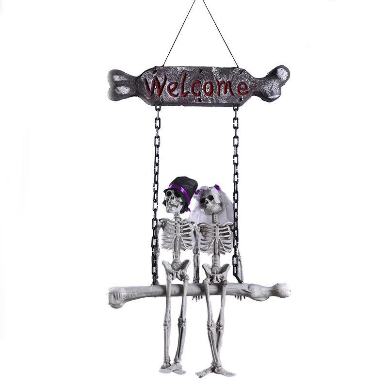 الرغوة العروس والعريس الهيكل العظمي / هالوين اللعب الهيكل العظمي واقعية / الجو الرعب اللباس اللوازم / ديكور منزل مسكون 200929