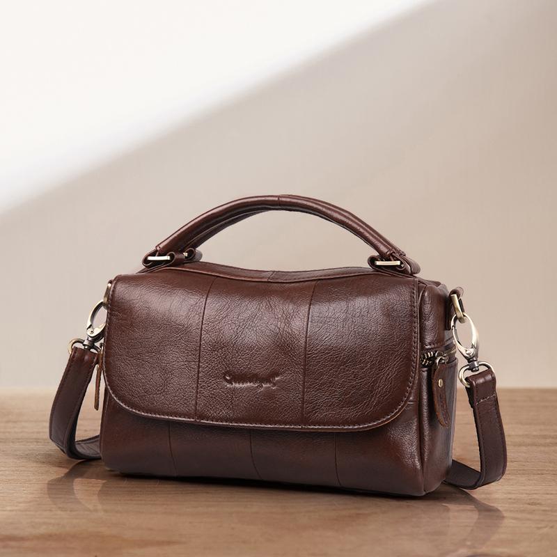 Cobbler Legend Kuh Echtes Leder Frauen Handtasche Retro Umhängetasche Crossbody Mini Vintage Damen Designer Clutch Für Frau