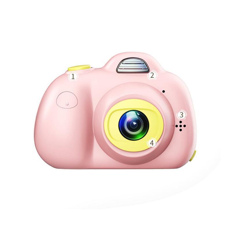كاميرات الفيديو 2.0 بوصة 800 واط الأمامي + الكاميرا الخلفية الرقمية للأطفال طفل لطيف الكرتون متعددة الوظائف لعبة الأطفال هدية