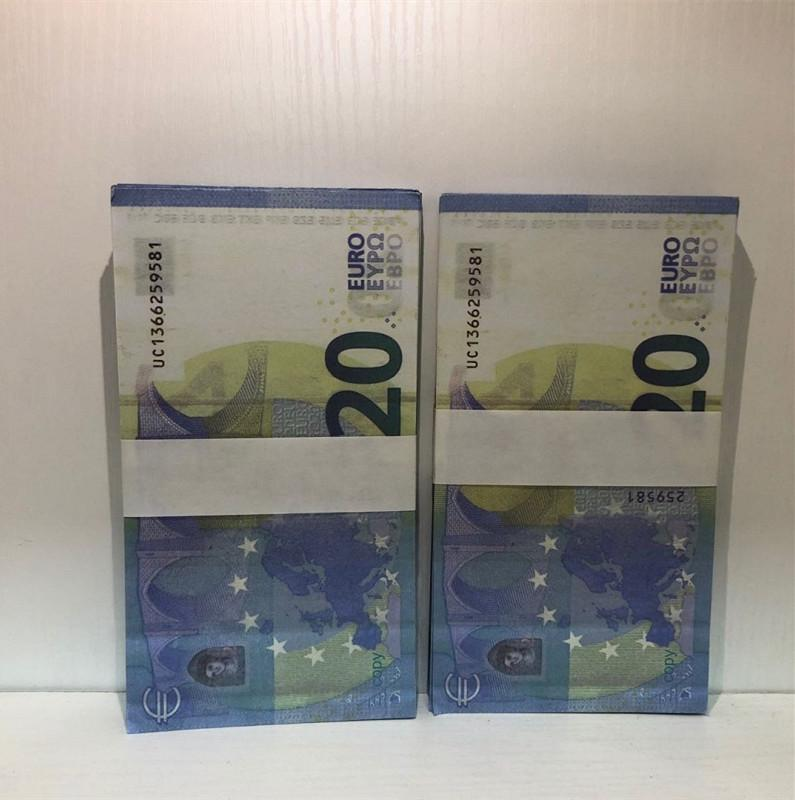 20 Bar Toy MV Copy Banknote Party Shooting Euro Prop Counterfeit Counterfeit Atmosphere Stage Prop LE20-50 Hot Afbjj Rnitb