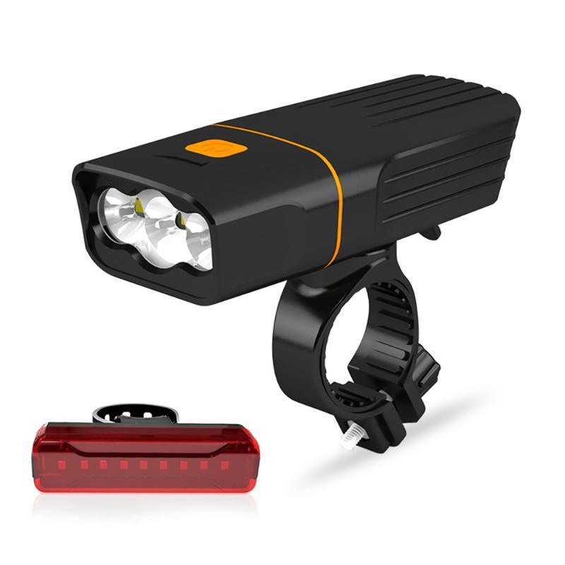 WasaFire 3 * T6 L2 الدراجة الخفيفة USB قابلة للشحن دراجات الجبهة الخلفية أضواء MTB الذيل مصباح رئيس للمصابيح الأمامية للدراجات العلوي الخلفي