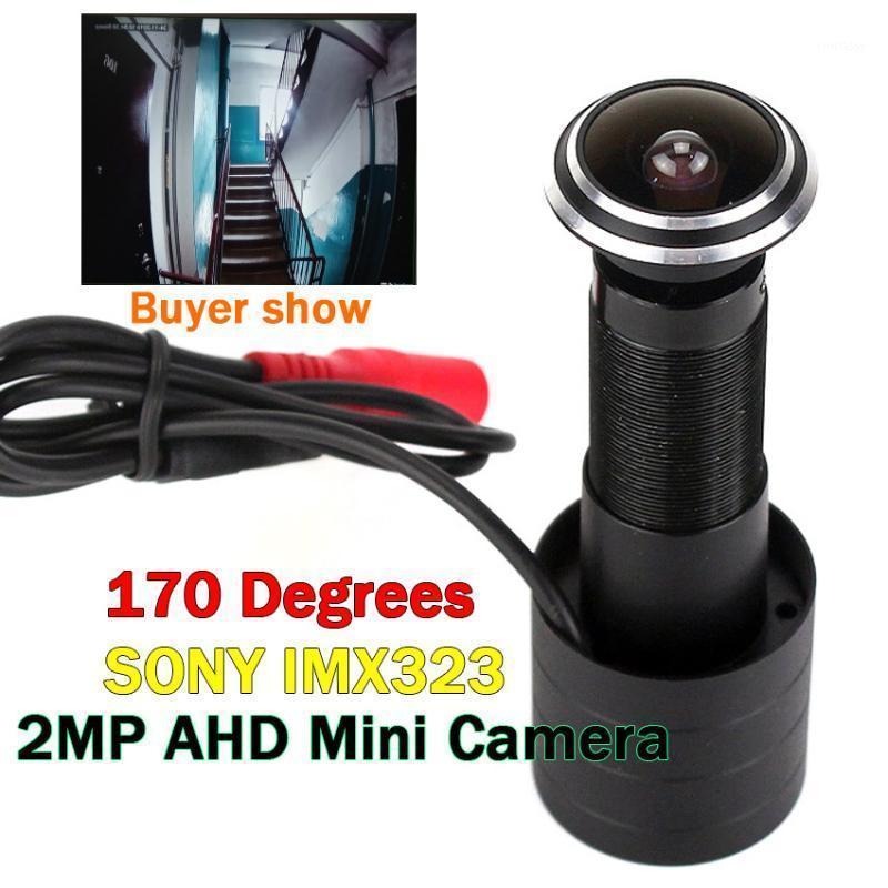 Câmeras 2021 Upgrade de 170 graus de grande angular porta Câmera de olho sony imx323 1080p AHD mini peephole fisheye cctv -pal / ntsc1