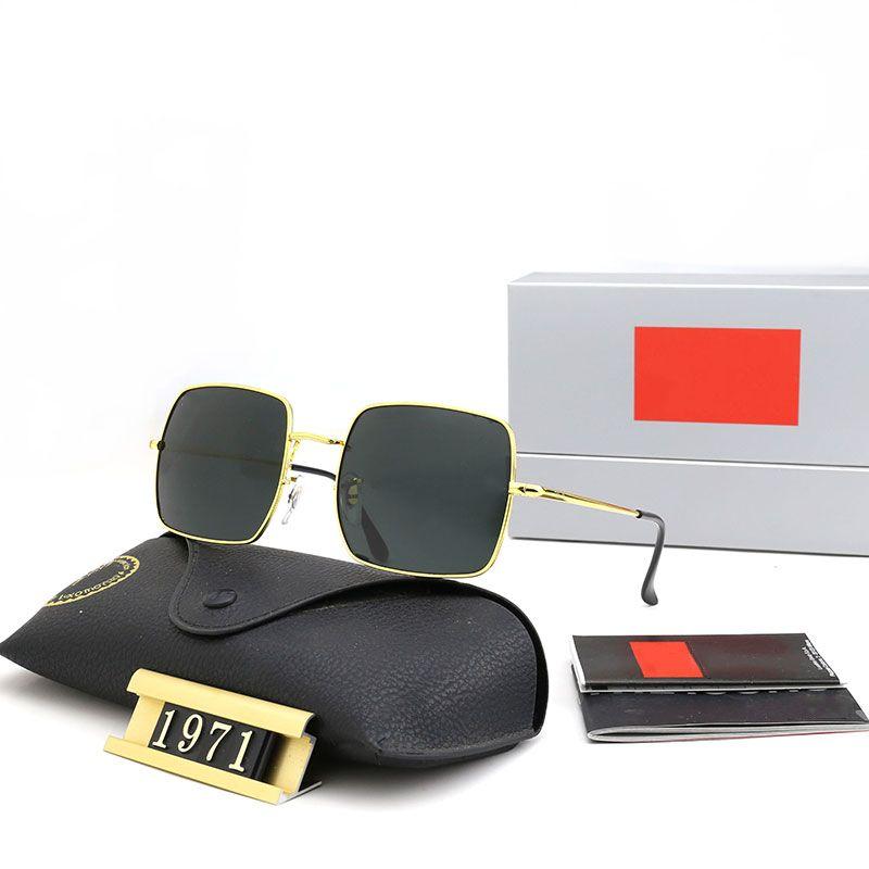 ثمانية ألوان النظارات الشمسية الرجال والنساء الأزياء الكلاسيكية الفضلات المصممين جودة عالية زجاج عدسة القيادة النظارات الاستقطابية مع مربع 1971