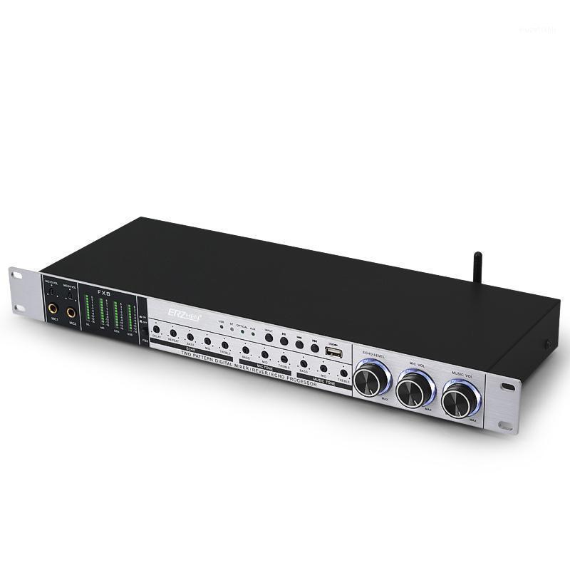 Erzhen FX8Plug Karaoke Pre-Effekte KTV Professioneller Digital Audio Echoeffekt Prozessor FX9 DSP Audioprozessor USB1