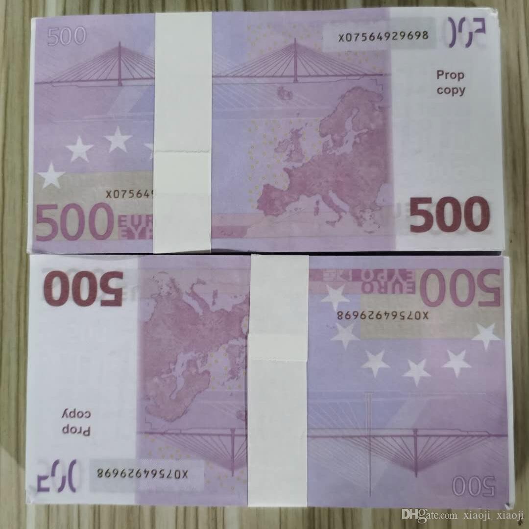 2020 euros de fausses factures Paper Europ Euro? 500 Prix de note Fake Bank Money Money Document d'entreprise Money XCBOM