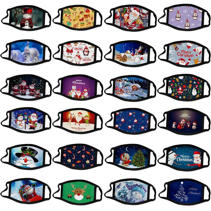 Рождество взрослых детей Cálico маска анти-туман моющегося хлопка маска цвето Рождество маски мультфильм лицо маска партия маска мода дизайн маска для лица