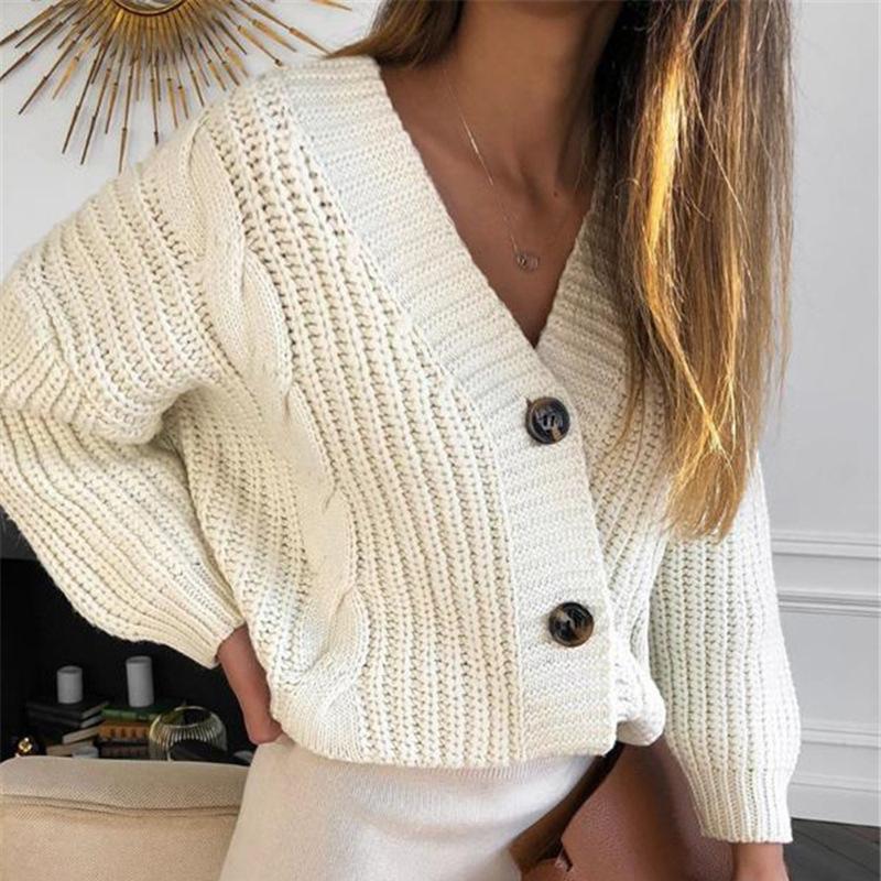 Maglione maglia donne autunno 2021 femmina casual manica lunga bottone cardigan maglioni maglia maglioni cappotto femme inverno vestiti caldi H1211