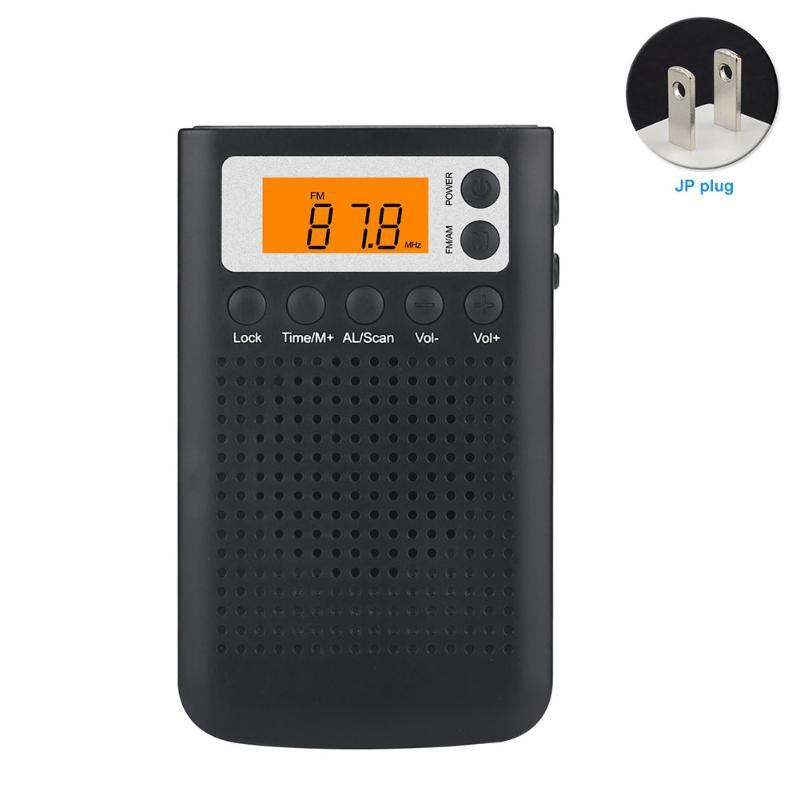 Yaşlı İnsanlar Ev Tuning Mini Taşınabilir Cep Radyo Elektrikli Dijital LCD Ekran Pil Powered ABS Hediye FM AM Stereo