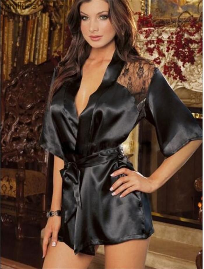 FactoryGazkwith 100pcs Albornoz 5 Diseño Kimono Mujer Lace G-String Cinturón Cinturón Sexy Lencería Noche Robe Pijamas Vestido M012 BPSGM