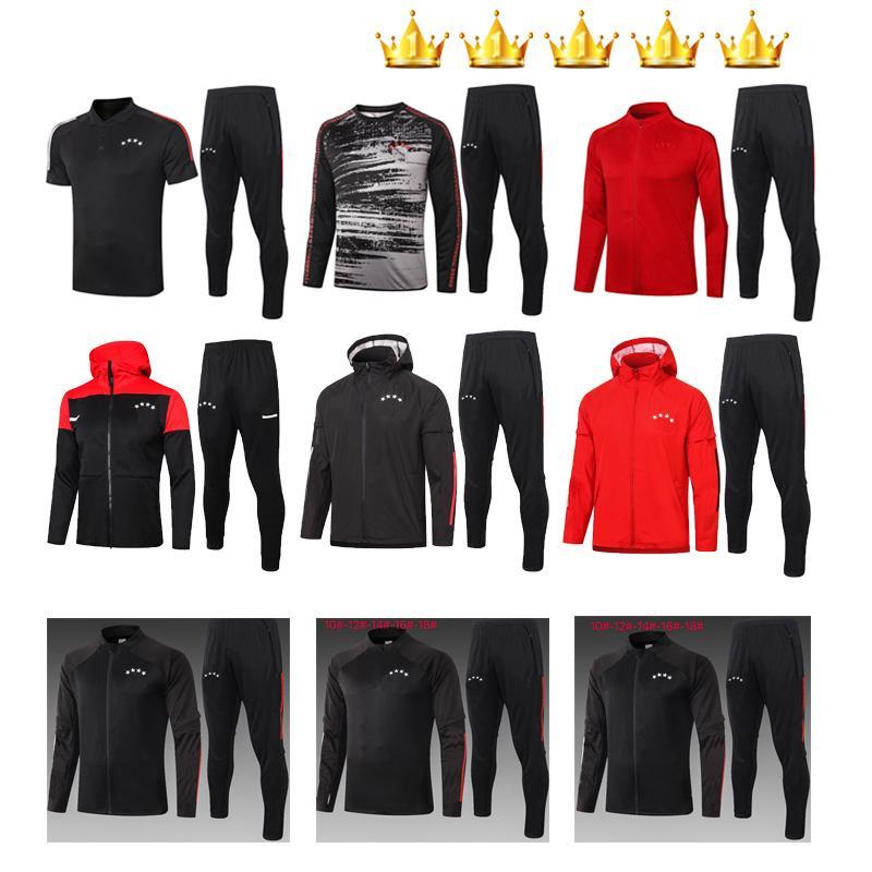 2020 2021 Traje de fútbol Traje de entrenamiento de fútbol Conjuntos de sobrevettement Soodie Camisas de Futebol 20 21 Kits de chaqueta de remojo de Maillot de pie