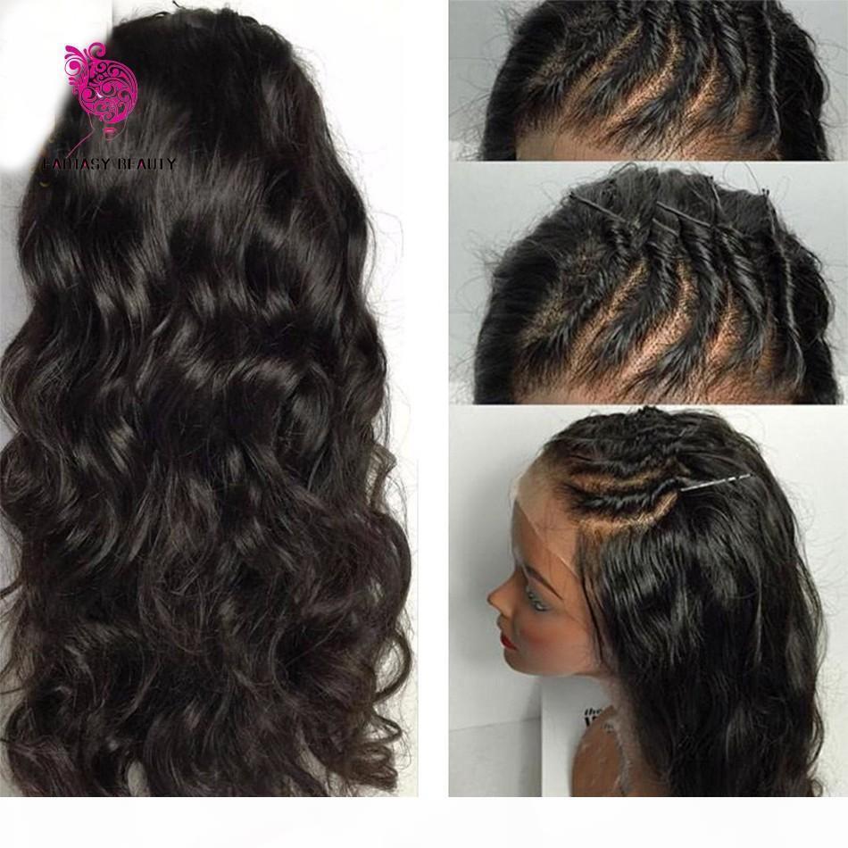 8A Silk Top Full Lace Wigs Brasileño Virginal Cuerpo Onda Sin GlueLess Seda Top Pelucas delanteras de encaje 100% Humano Peluca de la base de seda