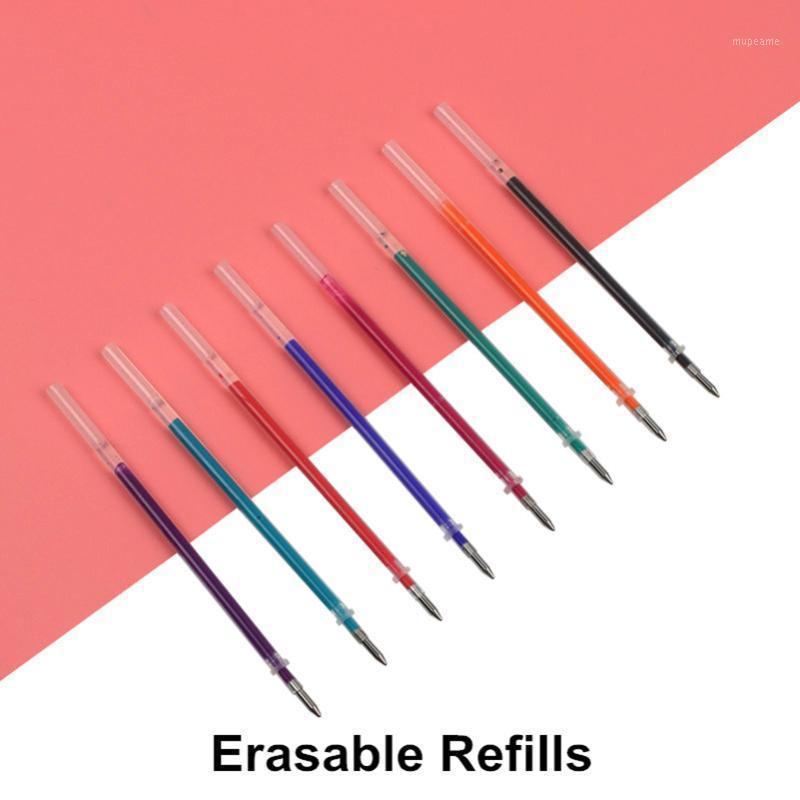 8 шт. Genkky Magic Erasable Pen Refill 0.5 мм синий черный красных чернил ручка для написания канцелярских товаров офисные школьные принадлежности1