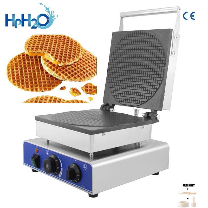gaufrier fabricant néerlandais électrique commercial stroopwafel machine à cône gaufre sirop plaque de fer four gâteau Snack