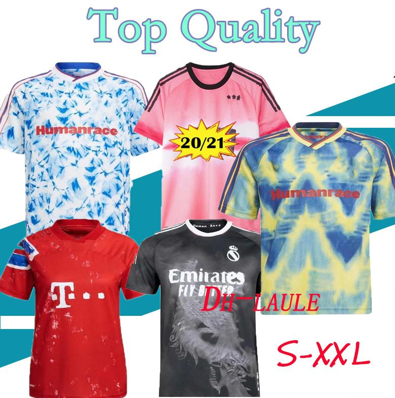 new HUMAN RACE 2020 2021 real madrid manchester fernandes greeenwood pogba united soccer jerseys 20 21 martial rashford Thai football jersey