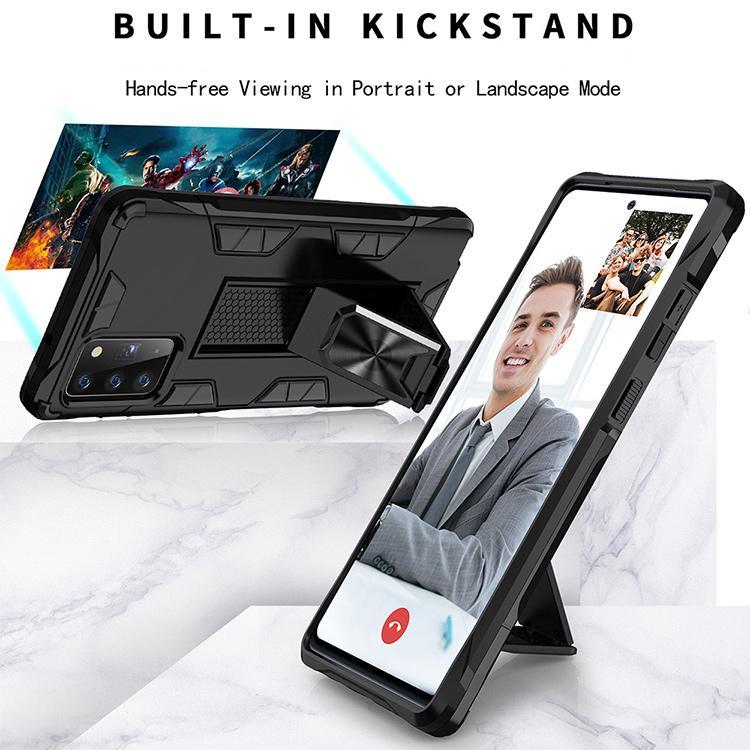 2020 nueva caja del teléfono diseño pie de apoyo invisible magnética para Samsung nota Galaxy 20 j2 s10 ultra para moto g stylus g8 g9 poder