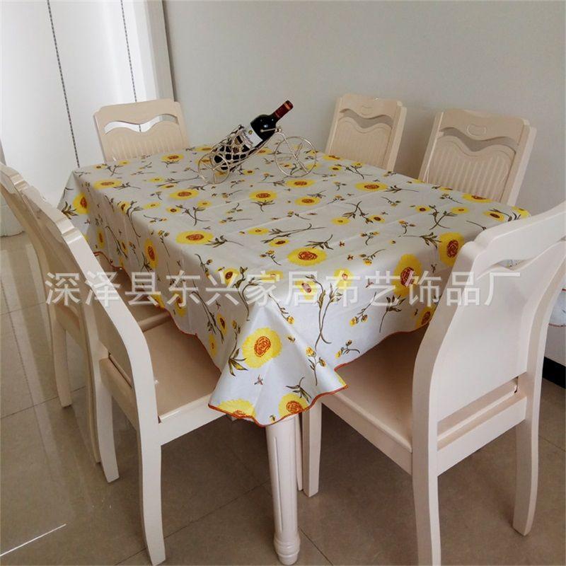 Kafes Çiçek Baskı Masa Örtüsü Ev Eşyaları Dairesel Dikdörtgen PVC Plastik Yağlı Çay Masa Örtüsü Çok Renkli Yeni Varış 11DX J2
