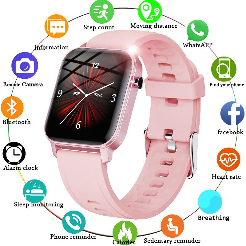 """New Smart Watch Women IP68 Waterproof 1.4"""" Full Touch Screen Sport SmartWatch Ladies Heart Rate Fitness Tracker Men Smartwatches Wholesale For Androild Cell Phones"""