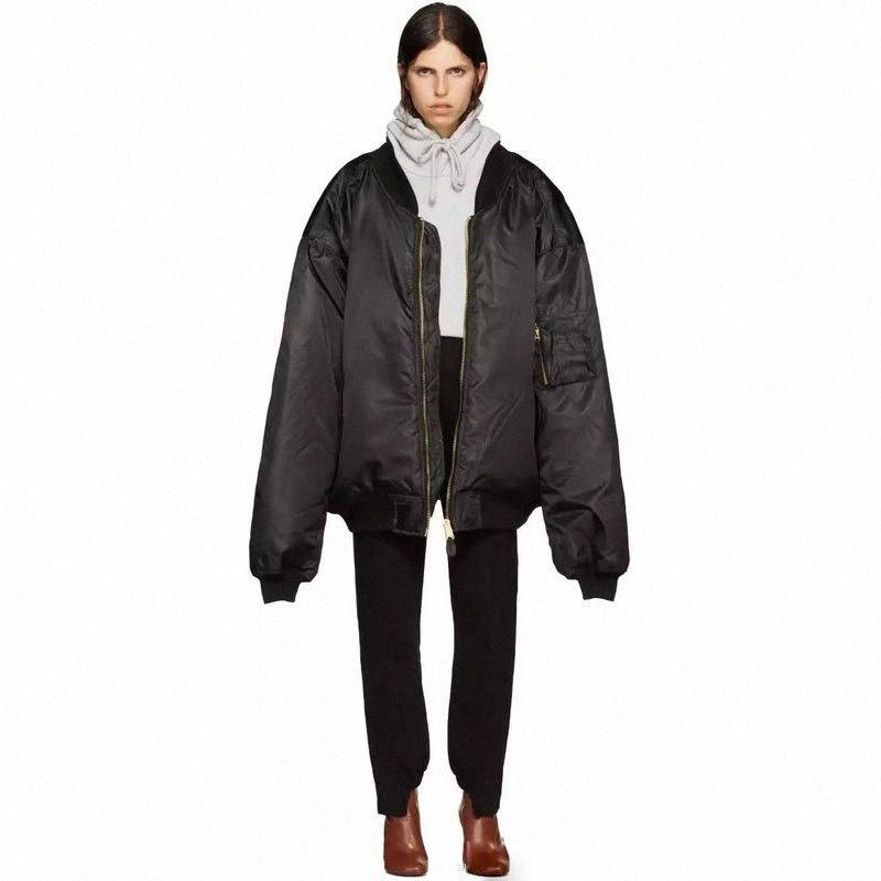 2017 Kış Vetements Kalın Yeşil Ceket Hiphop Kadın Erkek Pamuk Yastıklı Boy Ceketler Coat Unisex Kış Giysileri HM7R #