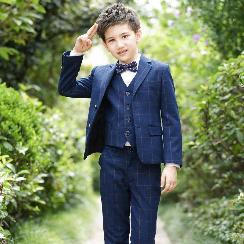 Boys Suits For Weddings Kids Blazer Suit For Boy Costume Enfant Garcon Mariage Jogging Garcon Blazer Boys British styleTuxedo awtW#
