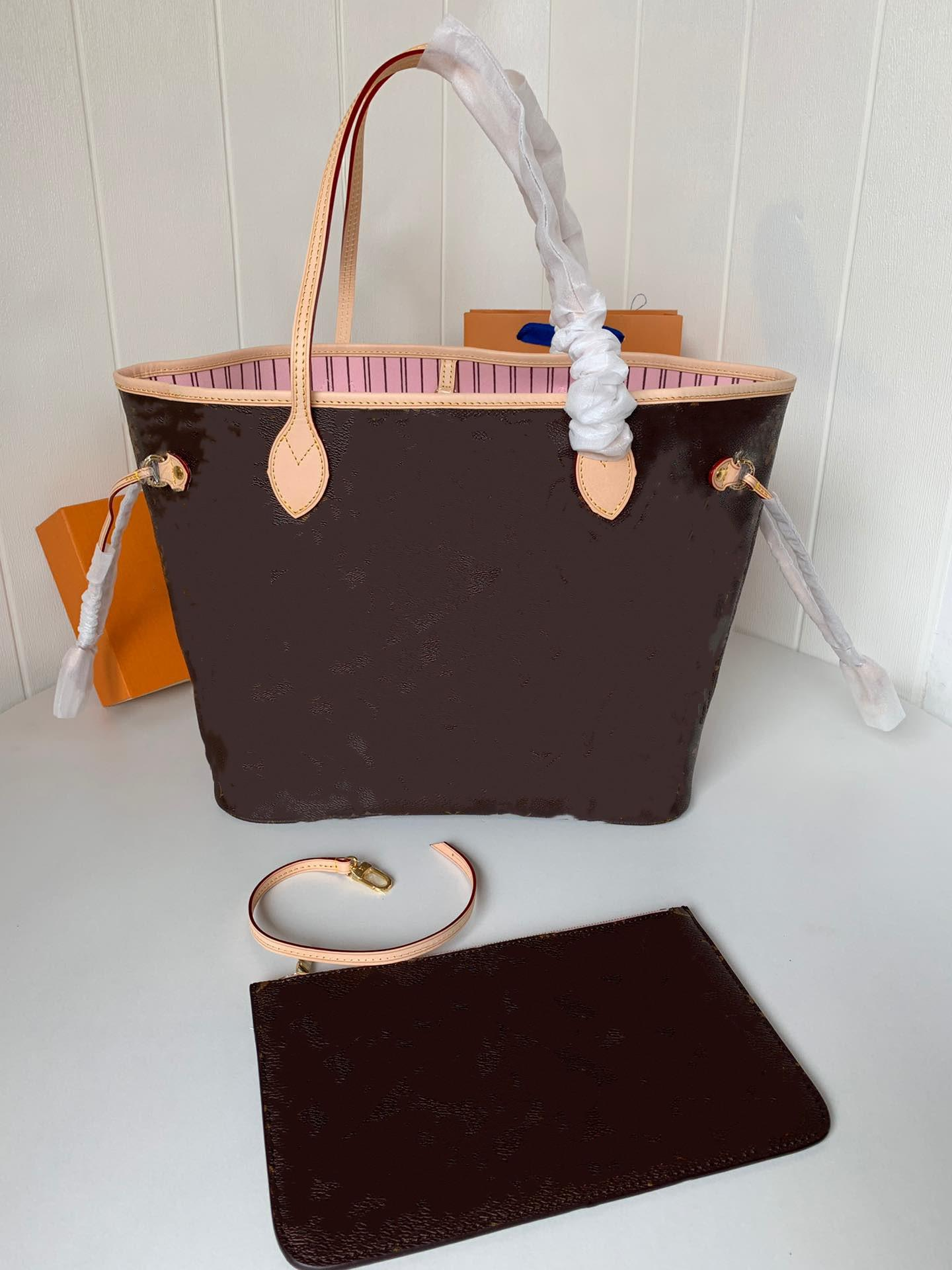 2 stücke Set High Qulity Klassische Womens Handtaschen Blume Damen Composite Tote Leder Kupplung Umhängetaschen Handtaschen Geldbörsen