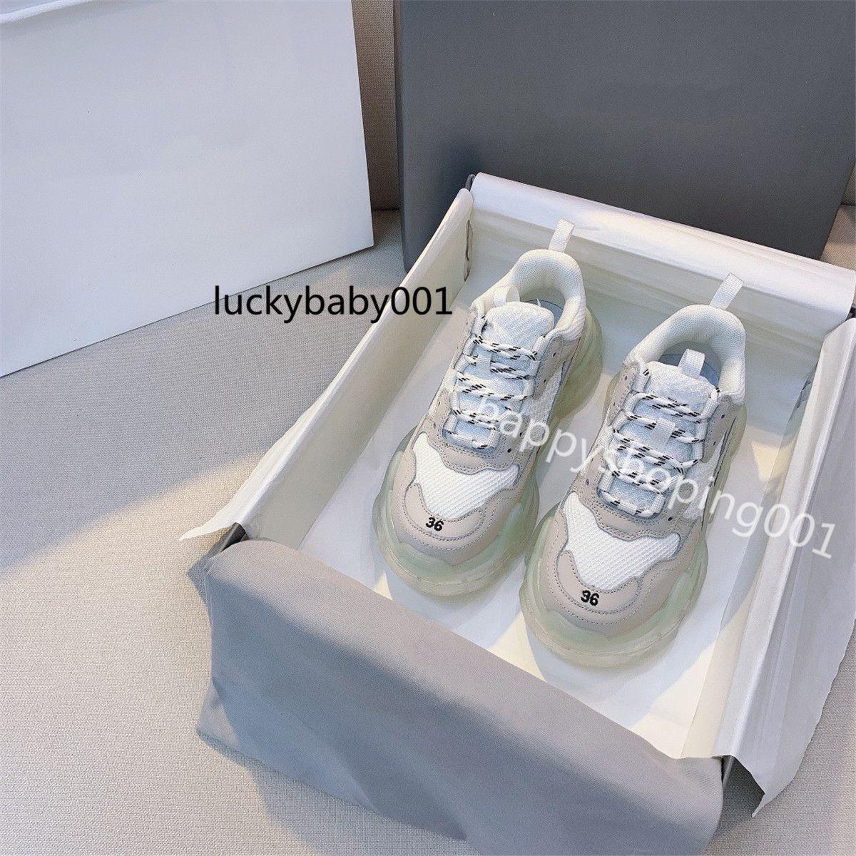 جودة عالية الثلاثي عارضة أبي أحذية الرجال النساء منصة الأحذية السوداء الوردي أزياء أبيض أحذية رياضية ثلاثية