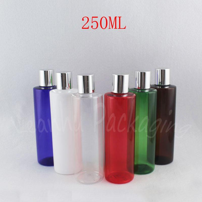 250 ml bouteille vide en plastique avec bouchon à vis, 250CC Maquillage Sous-embouteillage Shampooing / cosmétique eau Conditionnement
