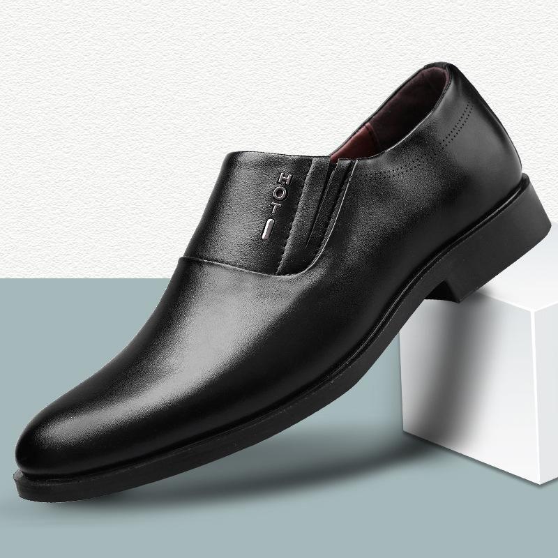 Mazefeng Brand 2020 Nuevos comerciales oxfords de los hombres zapatos de cuero conjunto de zapatos Pies Negro Marrón: Oficina de boda en punta de los hombres de 38-48