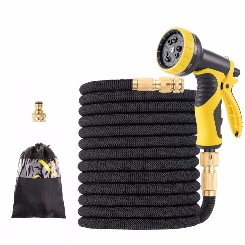 15-100FT TPE Garden Hoses Drip Irrigation System Expandable Flexible Magic Watering Hoses With Faucet connector Car Wash Nozzle Y200106