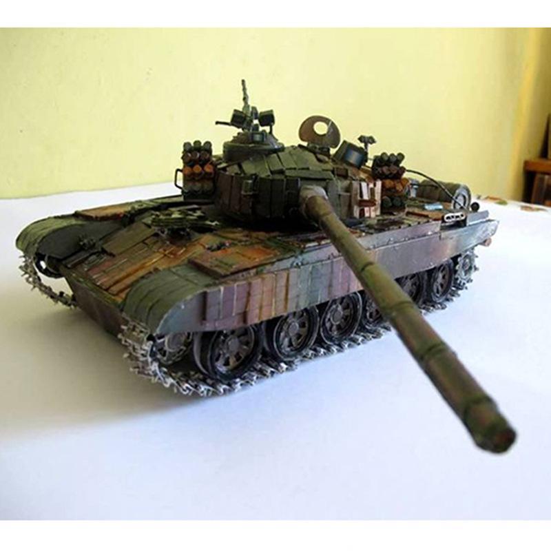 01:25 3D pt-91 réservoir papier principal modèle bataille polonais panier bricolage cadeau collection militaire