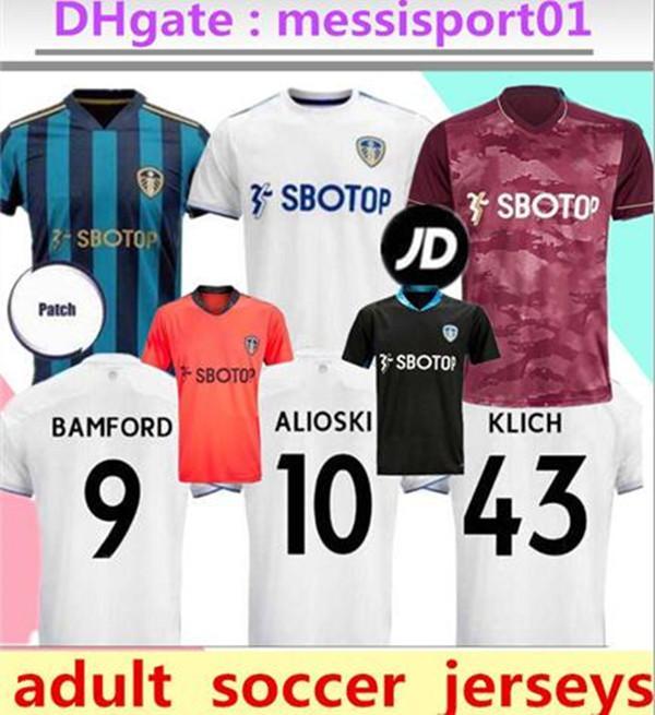2020 2021 Leeds United camisa de futebol COSTA comemora centenário BAMFORD CLARKE camisa de futebol 2020/21 Leeds United Homens