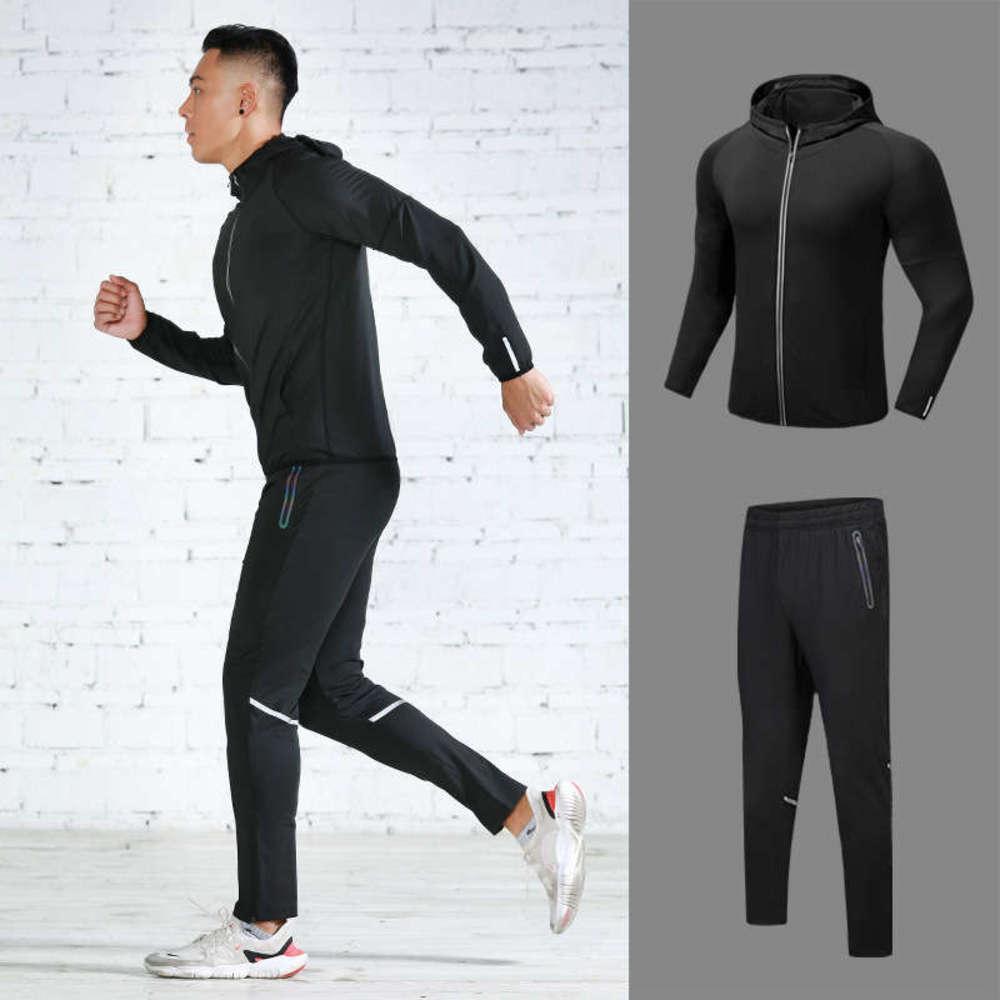Sport fitness in esecuzione da uomo primavera estate tuta da due pezzi con elevata elasticità e asciugatura rapida