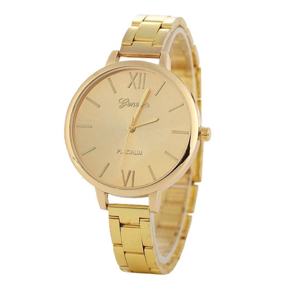 Ginebra y aleación simple Reloj de mujer para hombres Nuevo reloj Ginebra Estudiante delgado de acero delgado reloj