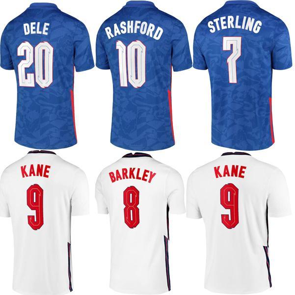 21/22 Jersey de futebol Kane esterlina Rashford Sancho Henderson Barkley Maguire 20 22 Camisas de futebol nacionais Homens + kit kids sets uniformes