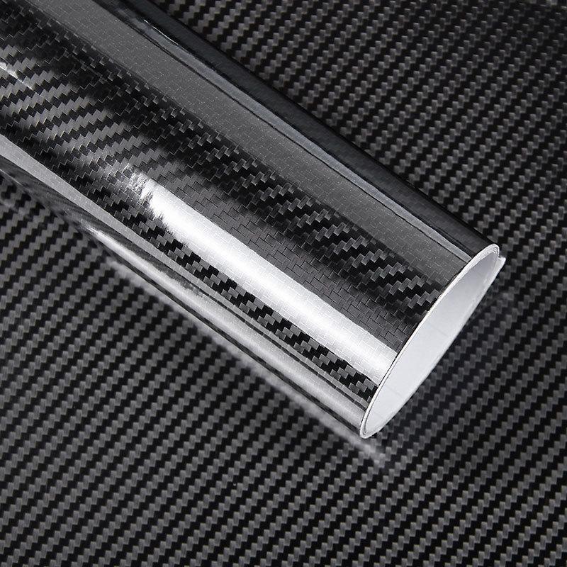 Car Styling 200cm*50cm Glossy Black 5D Carbon Fiber Vinyl film Car Wrap With Air Free Bubble DIY Car Part Sticker Accessories