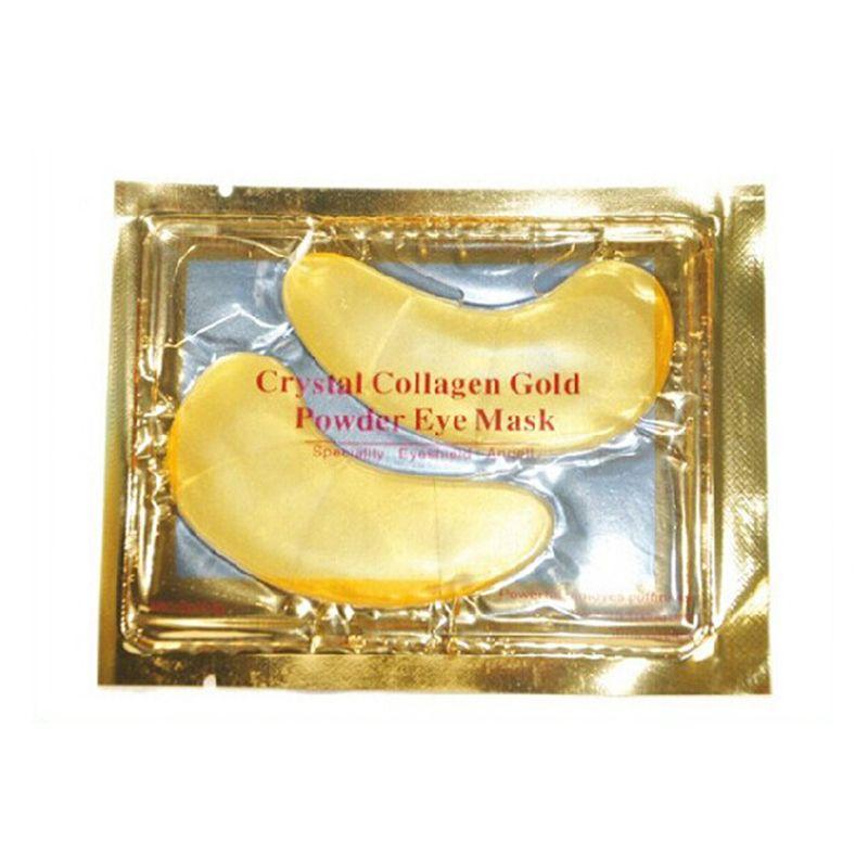 حار بيع كريستال الكولاجين الذهب مسحوق العين قناع الذهبي قناع عصا للادارة الداكنة dhl الشحن السريع