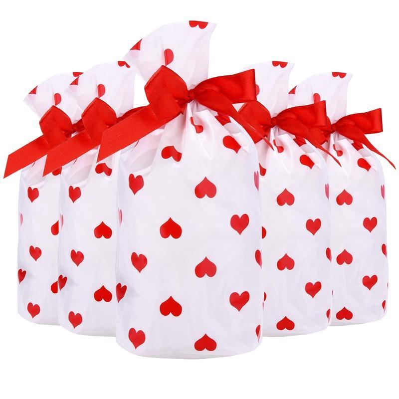 الرباط حقيبة الحلوى هدية علاج ملفات تعريف الارتباط تغليف أكياس العرض 50 قطع للعام الجديد التفاف الهدايا حزب أكياس لوازم عيد الميلاد