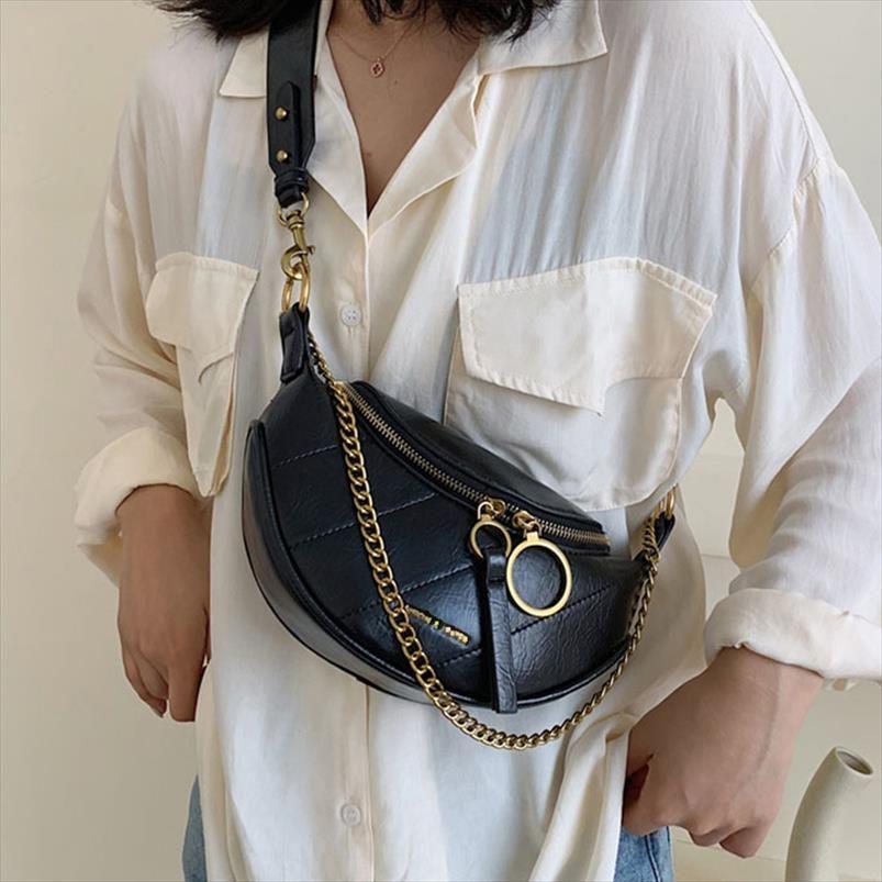 Saco de cintura feminina saco de cinto moda pu couro fanny pack cintura packs marca pacote quadril pacote pack feminino crossbody