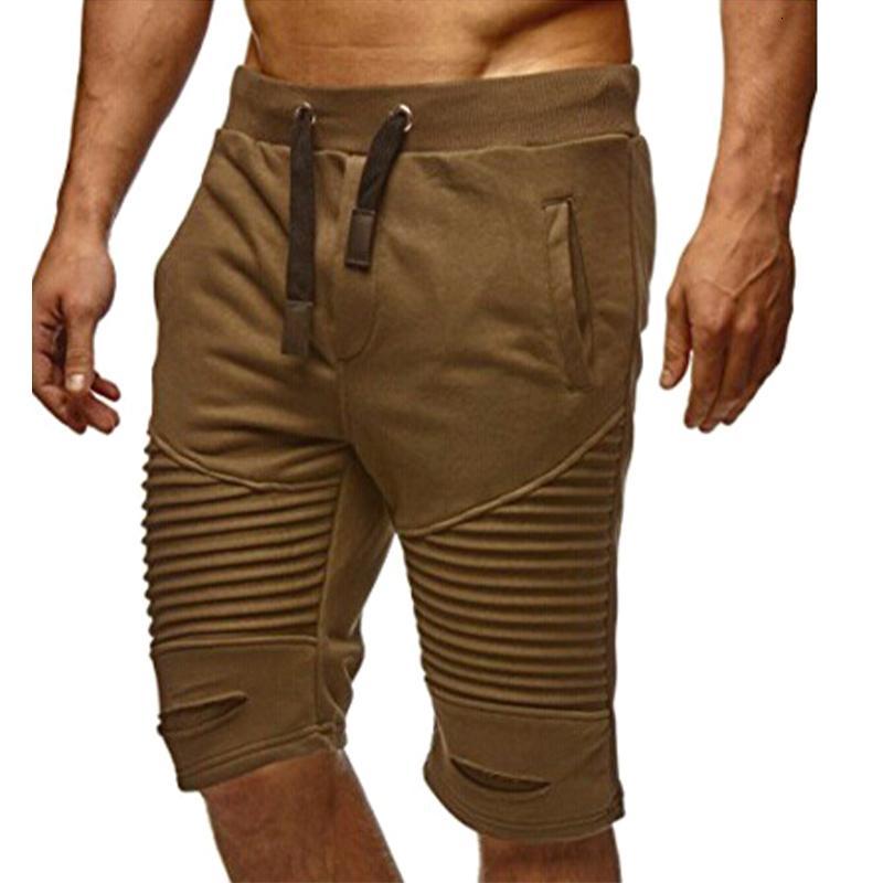 VICABO повседневные плиссированные отверстия Pantalones Cortos Hombre мода с карманными мужскими летние шорты #w